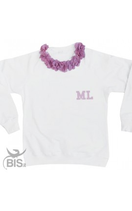 Woman's sweatshirt Flowers + Initials