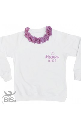"Woman's sweatshirt ""MAMA EST... "" + year of birth"
