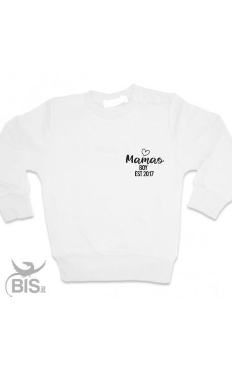 "Customizable Sweatshirt ""Mama's boy EST"" + year of birth"