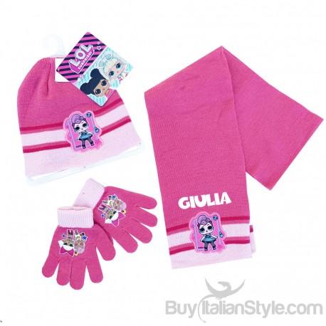 sciarpa LOL Surprise Dolls Cappello in lana guanti Set invernale per bambini regalo di Natale