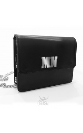 Genuine Leather Shoulder Bag with initials