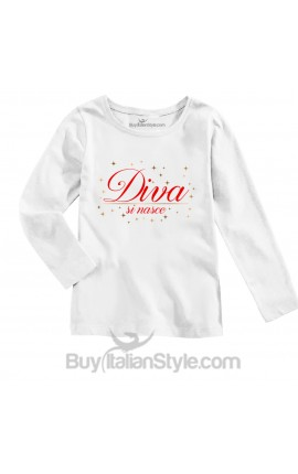 """Little girl's T-shirt """"Born to be a diva"""""""