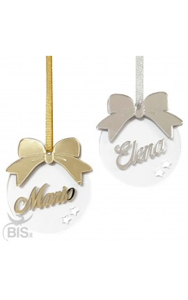Personalized Christmas plexiglass decoration