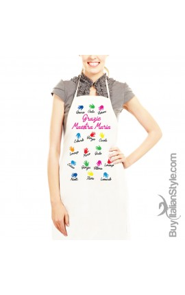 PERSONALIZED kitchen apron with dedication and name
