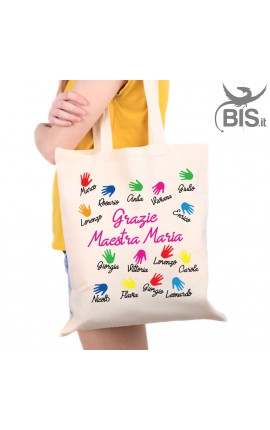 Shopper bag to customize with dedication for the teacher