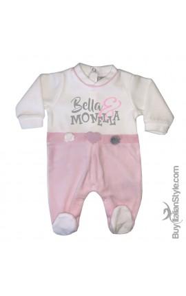 """Tutina neonata ciniglia con fiori """"Bella & Monella"""""""