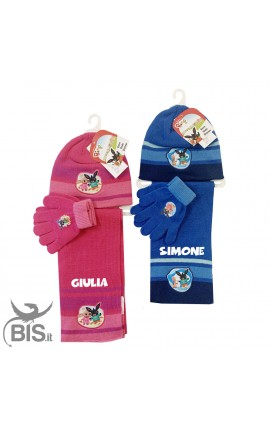 """Llittle hat, scarf and gloves """"Bing"""" kit, to customize"""