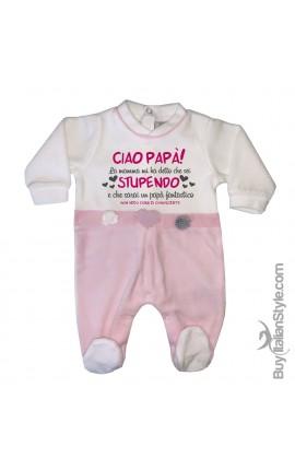 """Newborn chenille Jumpsuit """"Bella & Monella"""""""