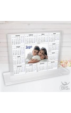 """Targhetta in plexiglass """"Calendario 2020 da tavola """" con foto"""