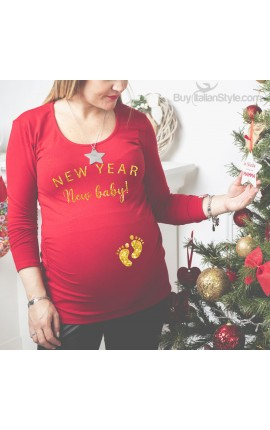 "T-shirt premaman ""New year New baby!"""
