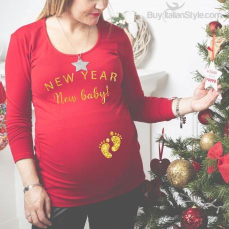 "T-shirt premaman ""New year New baby!"""