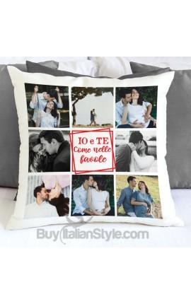 Federa cuscino personalizzabile con testo e con 8 foto