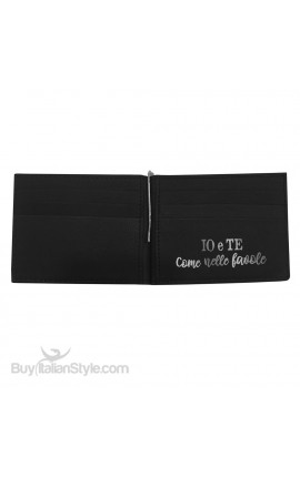 "Genuine Leather Man Wallet ""Sweet as honey, hard as a rock. I love you, grandfather""."