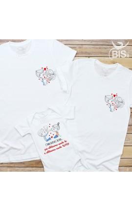 """T-shirt bimbo """"L'uno aveva l'altra... poi abbiamo avuto voi e abbiamo avuto TUTTO!"""""""