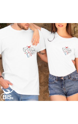 "Couple t-shirts ""in love"""