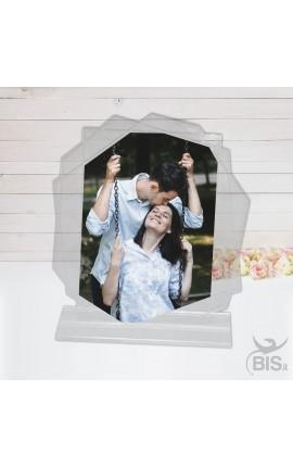 Targhetta poligonale in plexiglass da personalizzare con foto