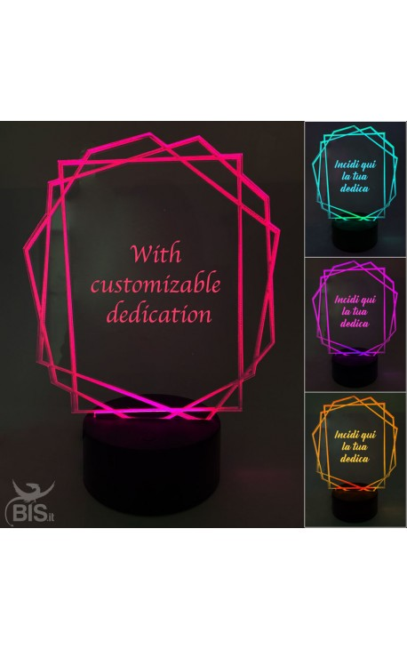 """Octagon LED lamp """"With customizable dedication"""""""