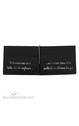 """Genuine Leather Man Wallet """"You and me like in fairy tales"""""""