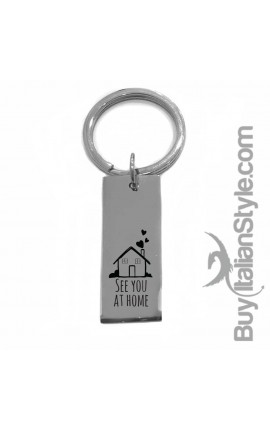 "Metal Key Ring ""You & Me as in fairy tales"""