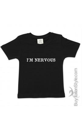 """T-shirt bimbo/a  """"Sto nervoso/a"""""""