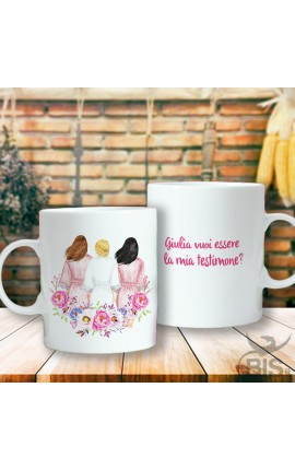 """Ceramic Mug """"Do you want to be my best woman?"""""""