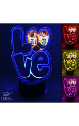 "LED heart lamp ""with customizable photo"""