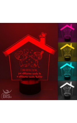 "Polygon Led Lamp ""with customizable photo"""