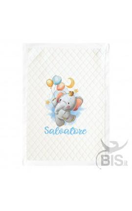 "Summer Blanket ""Baby Unicorn"" - Customizable with name"