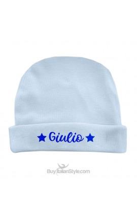 Cappellino neonato/a stelline con nome