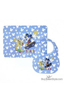 "Newborn Placemat & Bib ""Mickey Mouse"""