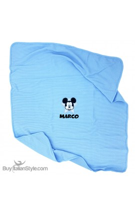 "Disney Jersey Blanket ""Mickey Mouse + name"""