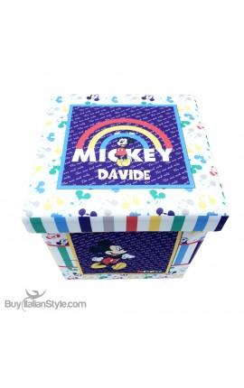 """Box contenitore in più varianti """"Disney"""", personalizzabile con nome"""