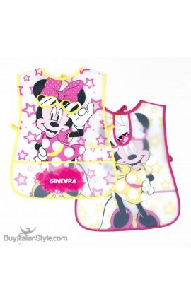 """Grembiule neonata in plastica """"Minnie """" da personalizzare"""