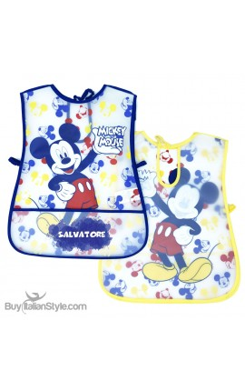 "Newborn Plastic Apron ""Mickey Mouse + name"""