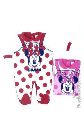 """Tutina estiva neonata """"Minnie"""" con nome"""