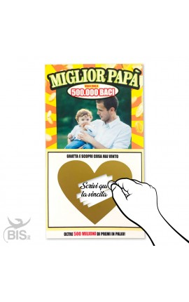 """Gratta e vinci """"Miglior papà"""" personalizzabile"""