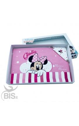 """Set lenzuola per lettino """"Minnie"""" da personalizzare"""
