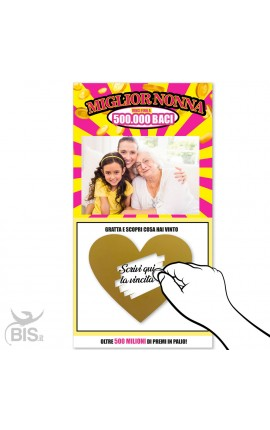 """""""Best Daddy"""" scratch card, to customize"""