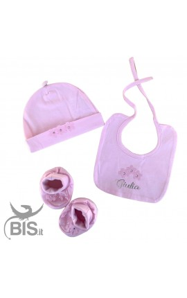 Little hat + cradle shoes elegant kit
