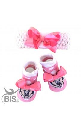 Set disney calzini e fascia Minnie con fiocco