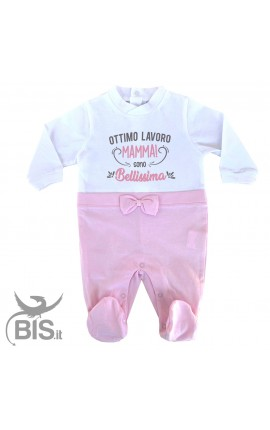 Elegant baby girl summer jumpsuit, to customize with name
