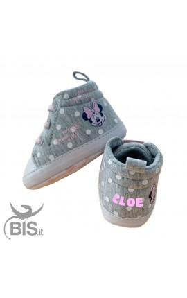 "Sneackers neonata ""Minnie"" con nome"