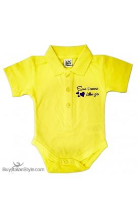 "Personalized Polo Shirt Bodysuit ""MINI Boss"""