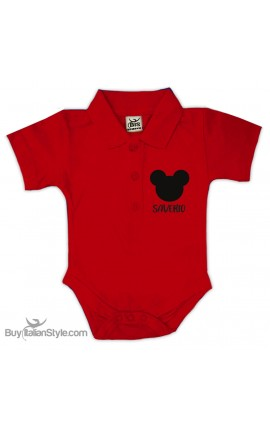 "Personalized Polo Shirt Bodysuit ""Anchor & Name"""