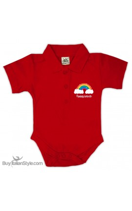 """Personalized Polo Shirt Bodysuit """"Anchor & Name"""""""