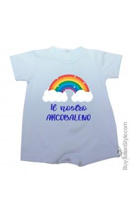 """Pagliaccetto bimba/o estivo """"arcobaleno"""" da personalizzare"""