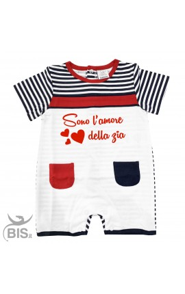 Baby Boy Romper Overalls ''Daddy and I Agree, Mommy's the Boss''
