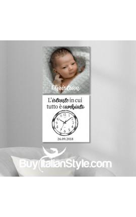 Coppia Foto-quadri da personalizzare con foto e dati nascita