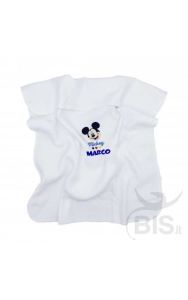 """Disney Jersey Blanket """"Mickey Mouse + name"""""""