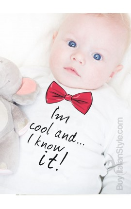 """Baby T-shirt """"I'm cool I know it"""""""